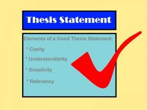 Tips on Writing a Thesis Statement Writing Center